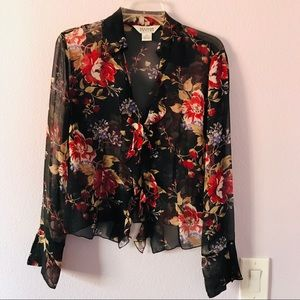 Vintage multicolored Allison Taylor silk blouse